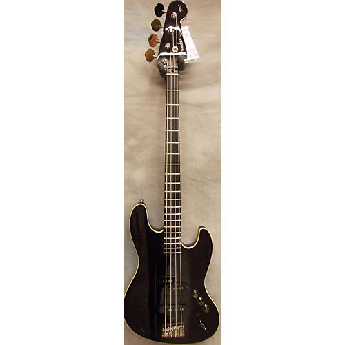 Fender Aerodyne Jazz Bass Black And Cream Electric Bass Guitar