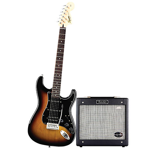 Squier Affinity HSS Stratocaster Electric Guitar Pack w/ G-Dec Jr. Amplifier
