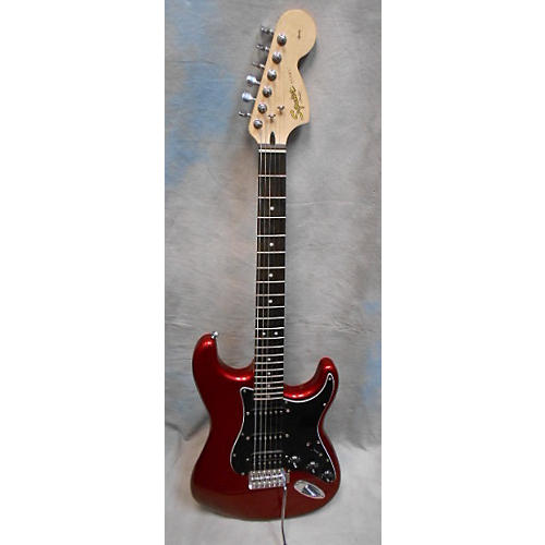 used squier affinity hss stratocaster solid body electric guitar candy apple red guitar center. Black Bedroom Furniture Sets. Home Design Ideas