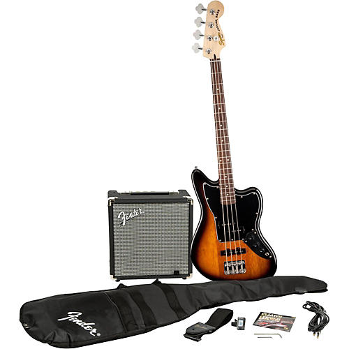 Squier Affinity Series Jaguar Bass SS Pack with Fender Rumble 15W Bass Combo Amp-thumbnail