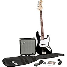 Affinity Series Jazz Bass Pack with Fender Rumble 15W Bass Combo Amp Black