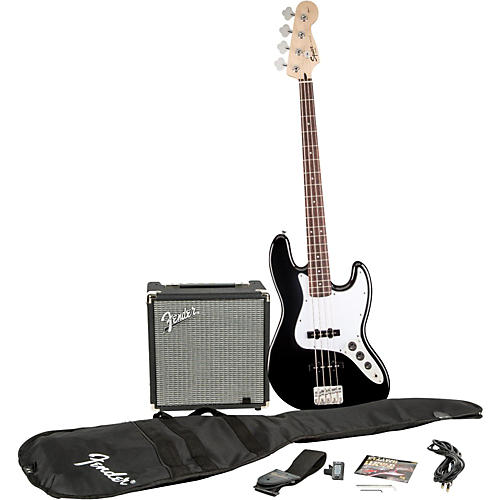 Squier Affinity Series Jazz Bass Pack with Fender Rumble 15W Bass Combo Amp-thumbnail