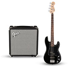 Squier Affinity Series PJ Bass Pack with Fender Rumble 15W 1x8 Bass Combo Amp