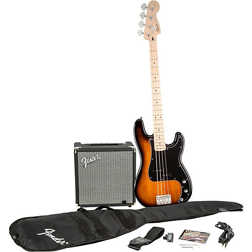 Squier Affinity Series Precision Bass Pack with Fender Rumble 15W Bass Combo Amp-thumbnail