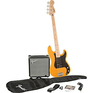 Squier Affinity Series Precision Bass Pack with Fender Rumble 15 Watt Bass Comb...