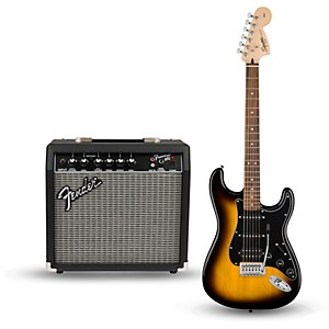 Squier Affinity Series Strat Pack HSS Electric Guitar with Fender Frontman ...