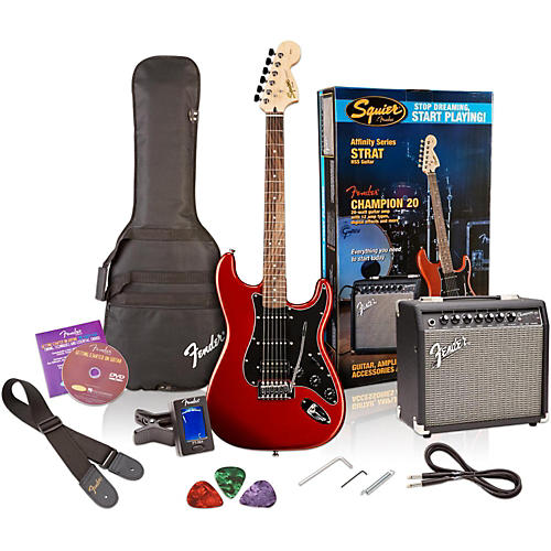 squier affinity series stratocaster hss electric guitar pack with fender champion 20w guitar. Black Bedroom Furniture Sets. Home Design Ideas