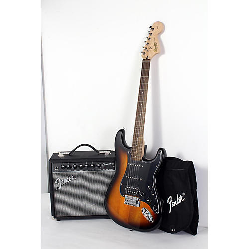 blemished squier affinity series stratocaster hss electric guitar pack with fender champion 20w. Black Bedroom Furniture Sets. Home Design Ideas