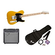 Affinity Series Telecaster Electric Guitar Pack with 15G Amplifier Butterscotch Blonde