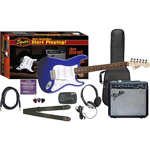 Squier Affinity Special Strat and Frontman 15G Amp Value Pack Metallic Blue