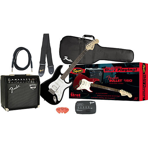 Squier Affinity Strat HSS and Bullet 150 DSP Amp Value Pack-thumbnail