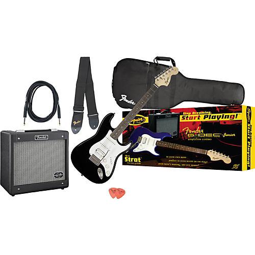 Fender Affinity Strat HSS and G-DEC Junior Amp Value Pack Black