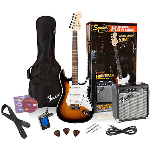 Squier Affinity Stratocaster Electric Guitar Pack w/ 10G Amplifier-thumbnail