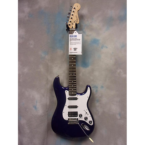 Squier Affinity Stratocaster Electron Blue Metallic Solid Body Electric Guitar-thumbnail