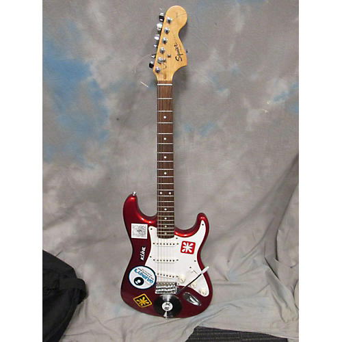 Squier Affinity Stratocaster Red Solid Body Electric Guitar-thumbnail