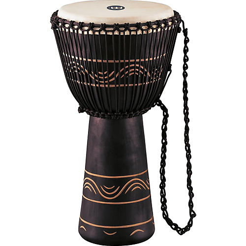 Meinl African Style Rope Tuned Djembe with Bag XL-thumbnail