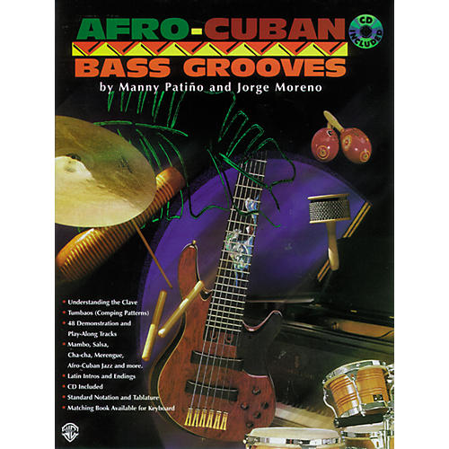 Alfred Afro-Cuban Bass Grooves (Book/CD)