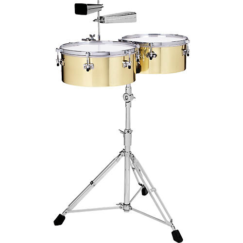 Gon Bops Alex Acuna Signature Brass Timbales-thumbnail