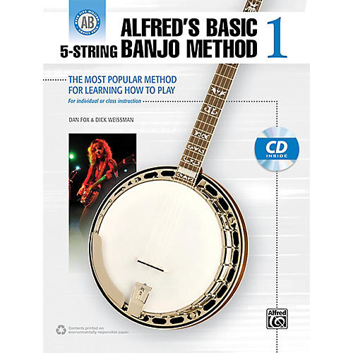 Alfred Alfred's Basic 5-String Banjo Method 1 Book & CD