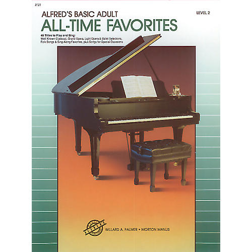 Alfred Alfred's Basic Adult Piano Course All-Time Favorites Book 2-thumbnail