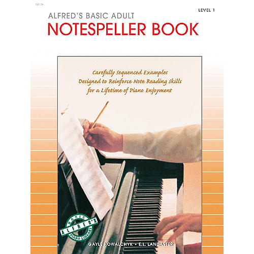 Alfred Alfred's Basic Adult Piano Course Notespeller Book 1
