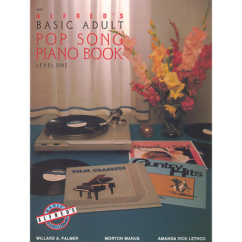 Alfred Alfred's Basic Adult Piano Course Pop Song Book 1-thumbnail