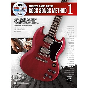 Alfred Alfreds Basic Guitar Rock Songs Method 1 Book, DVD and Online Audio, ... by Alfred