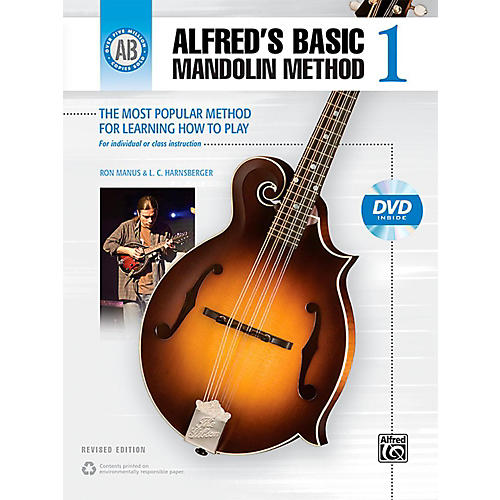 Alfred Alfred's Basic Mandolin Method 1 (Revised) Book & DVD-thumbnail