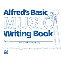 """Alfred Alfred's Basic Music Writing Book (8"""" x 6"""")"""