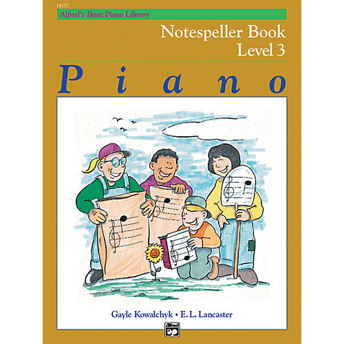 Alfred Alfred's Basic Piano Course Notespeller Book 3-thumbnail