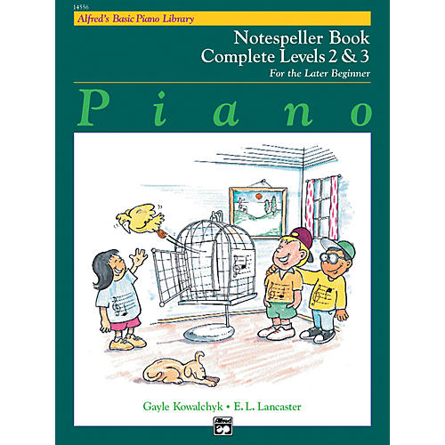 Alfred Alfred's Basic Piano Course Notespeller Book Complete 2 & 3-thumbnail