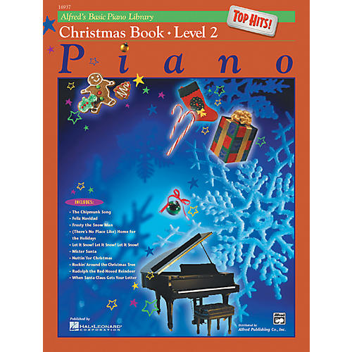 Alfred Alfred's Basic Piano Course Top Hits! Christmas Book 2-thumbnail