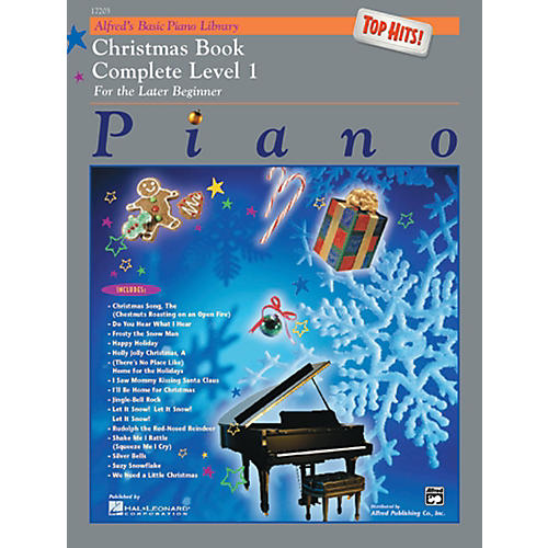 Alfred Alfred's Basic Piano Course Top Hits! Christmas Book Complete 1 (1A/1B)-thumbnail