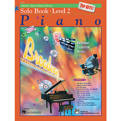 Alfred Alfred's Basic Piano Course Top Hits! Solo Book 2-thumbnail
