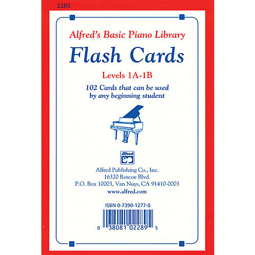 Alfred Alfred's Basic Piano Library Flash Cards Levels 1A & 1B