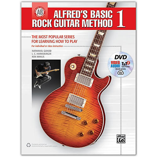 Alfred Alfred's Basic Rock Guitar Method 1 - Book, DVD & Online Audio, Video & Software