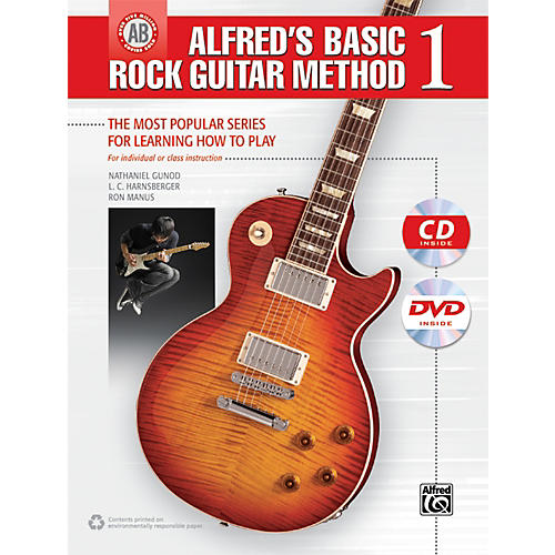 Alfred Alfred's Basic Rock Guitar Method 1 (Book/CD/DVD)-thumbnail