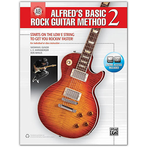 Alfred Alfred's Basic Rock Guitar Method 2 - Book & Online Audio-thumbnail
