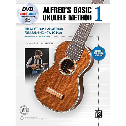 Alfred Alfred's Basic Ukulele Method 1 Book, DVD & Online Audio & Video Beginner-thumbnail