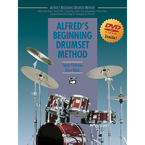 Alfred Alfred's Beginning Drumset Method Book & DVD in Sleeve-thumbnail