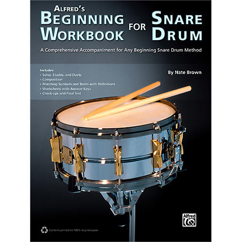 Alfred Alfred's Beginning Workbook for Snare Drum Book-thumbnail
