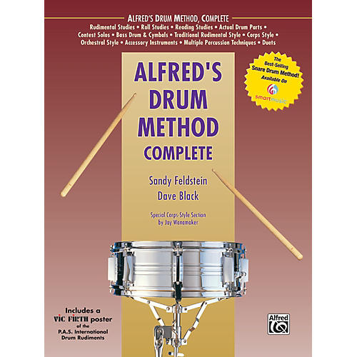 Alfred Alfred's Drum Method Complete Book & Rudiment Poster-thumbnail