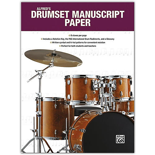 Alfred Alfred's Drumset Manuscript Paper, Book-thumbnail