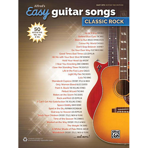 Alfred Alfred's Easy Guitar Songs: Classic Rock - Easy Hits Guitar TAB-thumbnail