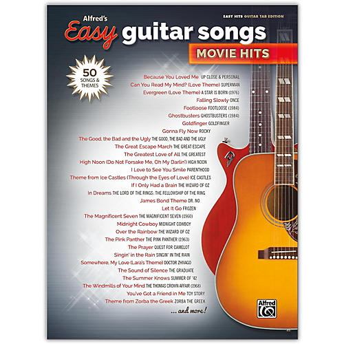 Alfred Alfred's Easy Guitar Songs: Movie Hits Easy Hits Guitar TAB Songbook-thumbnail