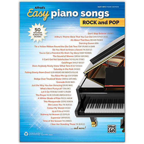 Alfred Alfred's Easy Piano Songs: Rock and Pop Easy Hits Piano Songbook-thumbnail