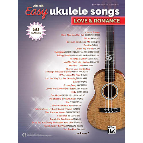 Alfred Alfred's Easy Ukulele Songs - Love & Romance Easy Hits Ukulele TAB Songbook
