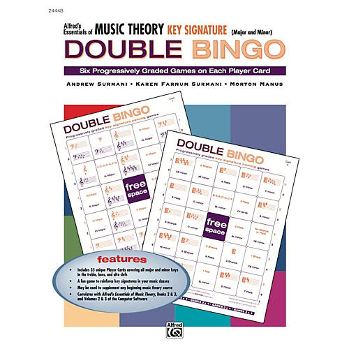 Alfred Alfred's Essentials of Music Theory: Double Bingo Game - Key Signatures-thumbnail