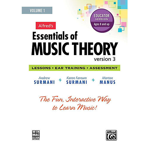 Alfred Alfred's Essentials of Music Theory: Software, Version 3 CD-ROM Educator Version, Volume 1-thumbnail