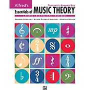 Alfred Alfred's Essentials of Music Theory: Teacher's Answer Key Book & 2 Ear Training CDs